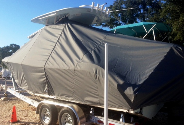 Cobia 237CC, 20xx, TTopCovers™ T-Top boat cover, port rear