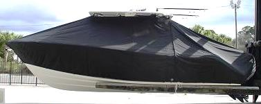 Cobia 296CC, 20xx, TTopCovers™ T-Top boat cover, port side