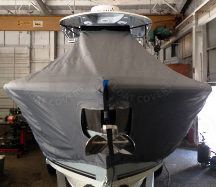 Cobia 301CC, 20xx, TTopCovers™ T-Top boat cover front