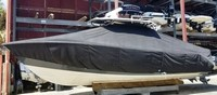 Photo of Cobia® 320CC 20xx T-Top Boat-Cover, viewed from Port Side