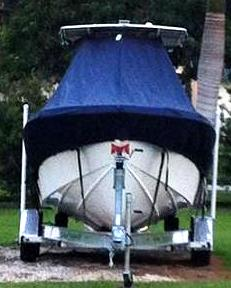 Competition 25CC, 20xx, TTopCovers™ T-Top boat cover front