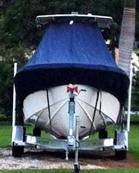 TTopCovers™ Competition, 25CC, 20xx, T-Top Boat Cover, front