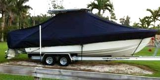 Competition 25CC, 20xx, TTopCovers™ T-Top boat cover side