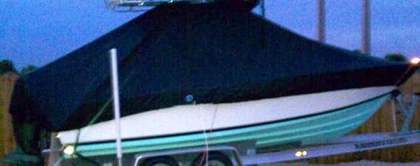 Contender 21 Open, 19XX, TTopCovers™ T-Top boat cover, starboard side