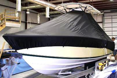 Contender 21 Open, 19xx, TTopCovers™ T-Top boat cover, port front