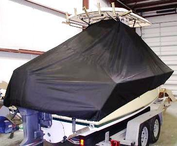 Contender 21 Open, 19xx, TTopCovers™ T-Top boat cover rear