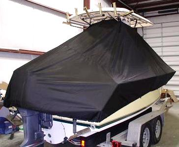 Contender 21 Open, 20xx, TTopCovers™ T-Top boat cover rear