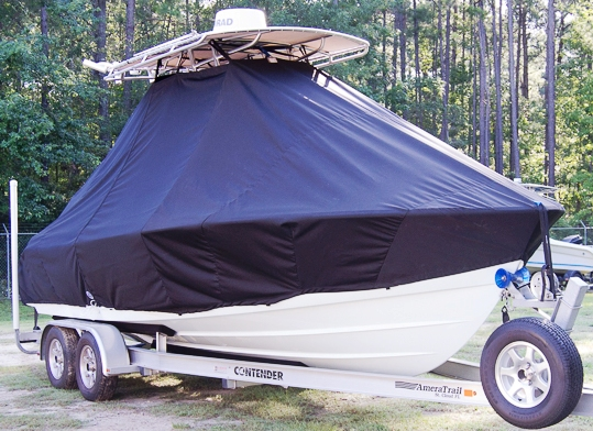 Contender 22 Sport, 20xx, TTopCovers™ T-Top boat cover, starboard front