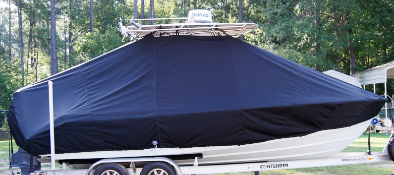 Contender 22 Sport, 20xx, TTopCovers™ T-Top boat cover, starboard side