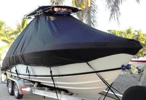Contender 23 Open, 19xx, TTopCovers™ T-Top boat cover, starboard bow