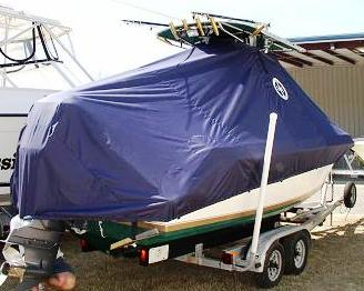 Contender 23 Open, 20xx, TTopCovers™ T-Top boat cover, starboard rear