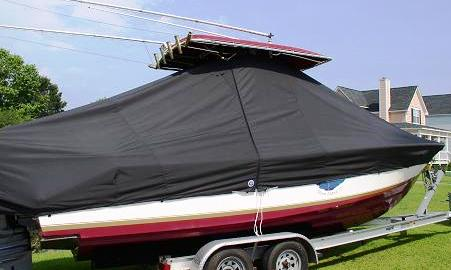 Contender 23 Tournament, 20xx, TTopCovers™ T-Top boat cover side