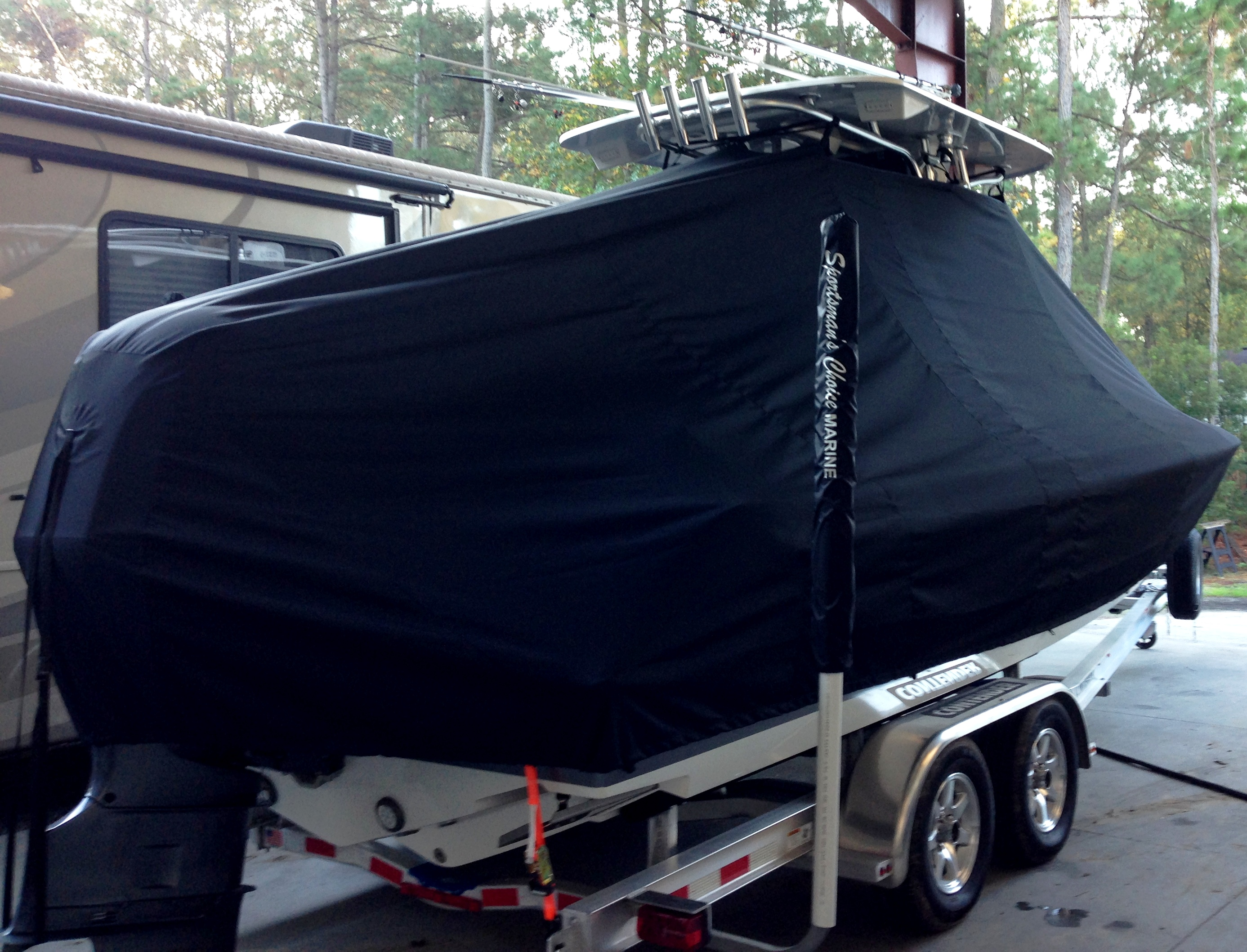 Contender 24 Sport, 19xx, TTopCovers™ T-Top boat cover, starboard rear