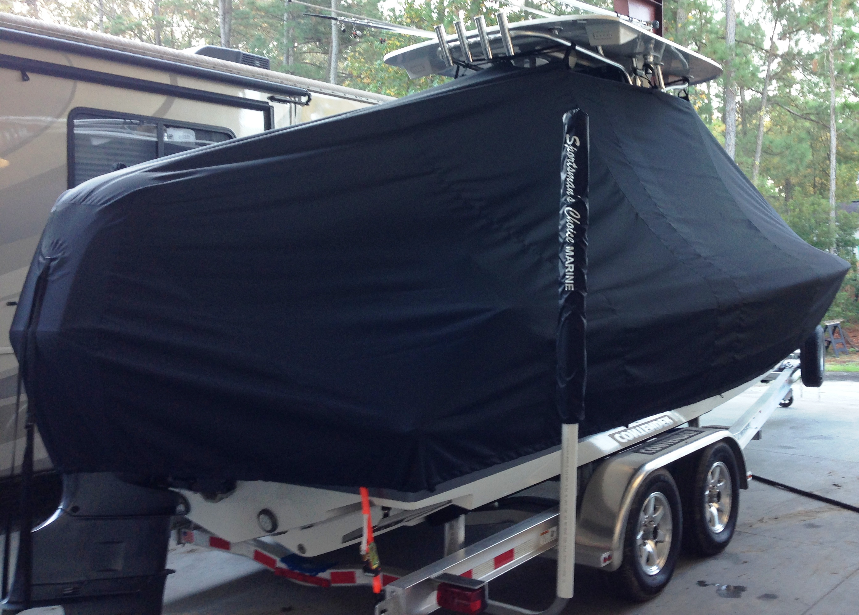 Contender 24 Sport, 20xx, TTopCovers™ T-Top boat cover, starboard rear