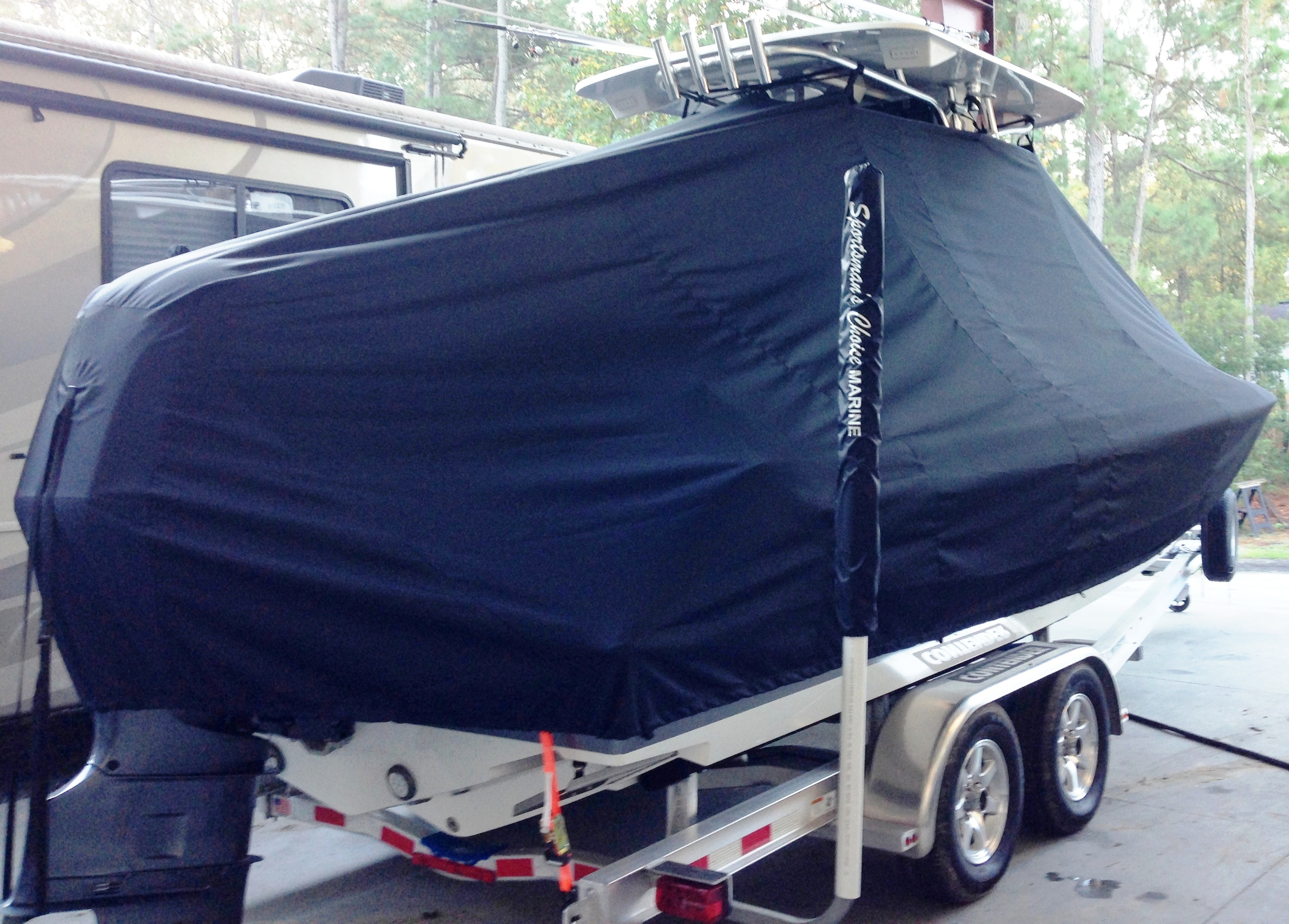 Contender 24S Sport, 20xx, TTopCovers™ T-Top boat cover, starboard rear