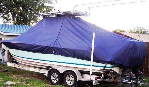 Contender 25 Open, 19xx, TTopCovers™ T-Top boat cover, port rear