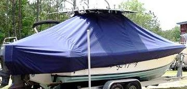 Contender 25 Open, 19xx, TTopCovers™ T-Top boat cover, starboard rear
