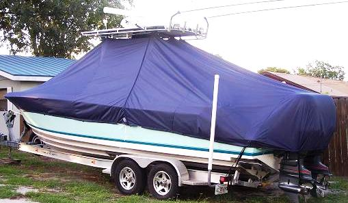 Contender 25 Open, 20xx, TTopCovers™ T-Top boat cover, port rear