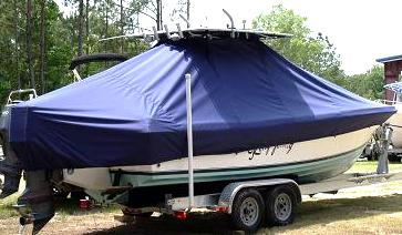 Contender 25 Open, 20xx, TTopCovers™ T-Top boat cover, starboard rear