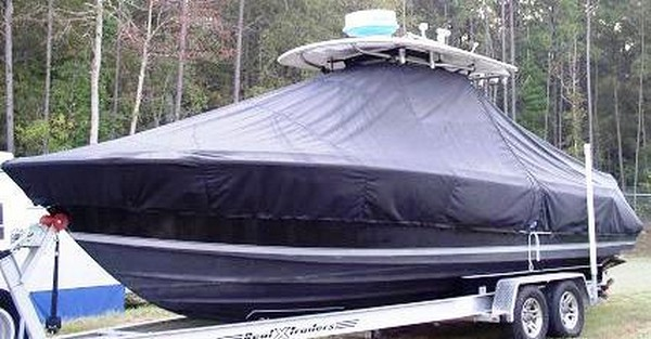 Contender 25 Sport, 19xx, TTopCovers™ T-Top boat cover, port front