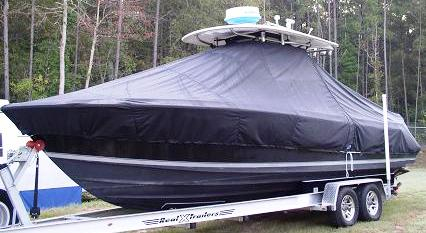 Contender 25 Sport, 20xx, TTopCovers™ T-Top boat cover, port front