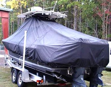 Contender 25 Sport, 20xx, TTopCovers™ T-Top boat cover rear