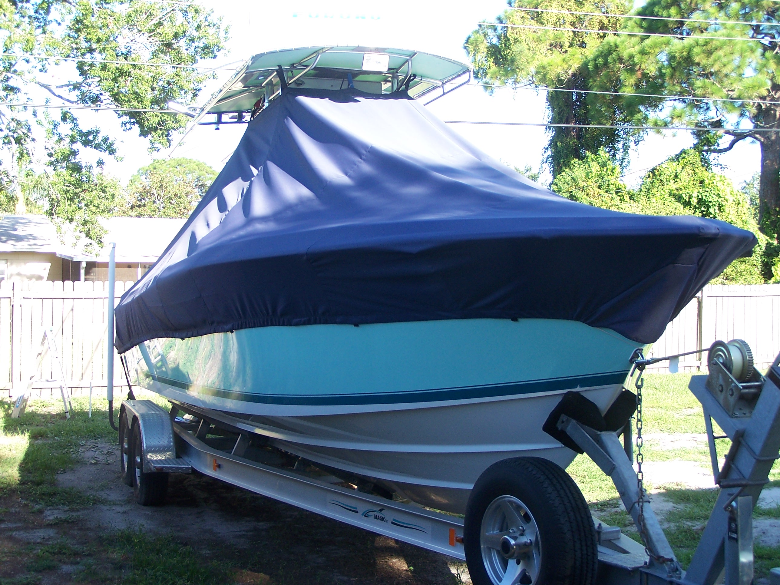 Contender 28T Tournament, 20xx, TTopCovers™ T-Top boat cover, starboard front