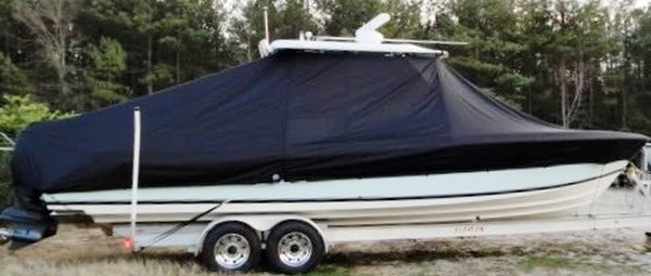 Contender 31 Fish Around, 19xx, TTopCovers™ T-Top boat cover, starboard side