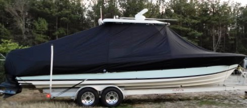 Contender 31 Fish Around, 2006, TTopCovers™ T-Top boat cover, starboard side