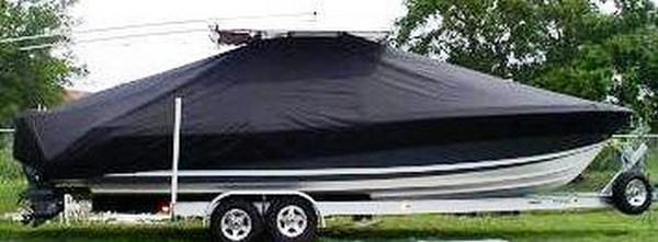 Contender 31 Open, 19xx, TTopCovers™ T-Top boat cover side
