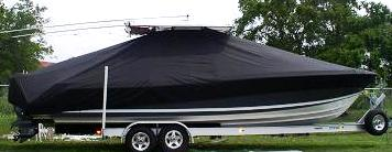 Contender 31 Open, 20xx, TTopCovers™ T-Top boat cover side