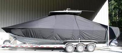 Contender 32 ST, 19xx, TTopCovers™ T-Top boat cover side