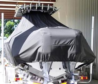Contender 32 ST, 20xx, TTopCovers™ T-Top boat cover rear