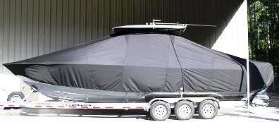 Contender 32ST, 20xx, TTopCovers™ T-Top boat cover side