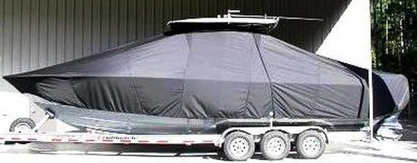 Contender 32, 19xx, TTopCovers™ T-Top boat cover side