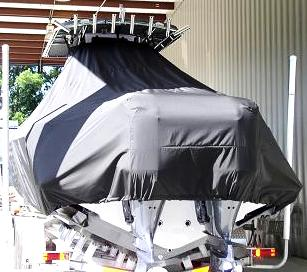 Contender 32, 20xx, TTopCovers™ T-Top boat cover rear
