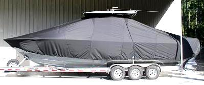 Contender 32, 20xx, TTopCovers™ T-Top boat cover side