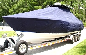 Contender 35 Tournament, 20xx, TTopCovers™ T-Top boat cover, port front