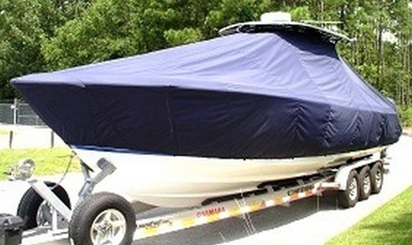 Contender 35, 19xx, TTopCovers™ T-Top boat cover, port front