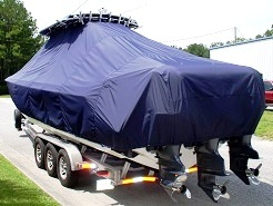Contender 35, 20xx, TTopCovers™ T-Top boat cover, port rear