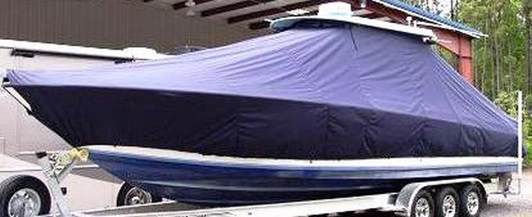 Contender 36 Fish Around, 19xx, TTopCovers™ T-Top boat cover, port front