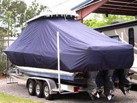 TTopCovers™ Contender, 36 Fish Around, 20xx, T-Top Boat Cover, port rear