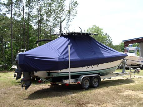 Contendor 25 Open, TTopCovers™ T-Top boat cover337, starboard rear