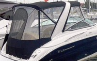 Photo of Crownline 250 CR Arch, 2009: Bimini-Top Connector, Side-Curtains, Camper Top, Camper Side-Curtains, Camper Aft-Curtain, viewed from Starboard, Rear