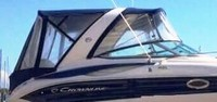 Photo of Crownline 250 CR Arch, 2009: Bimini-Top Connector, Side-Curtains, Camper Top, Camper Side-Curtains, Camper Aft-Curtain, viewed from Starboard, Side