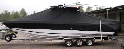 Donzi 32 ZF Open, 20xx, TTopCovers™ T-Top boat cover, port side