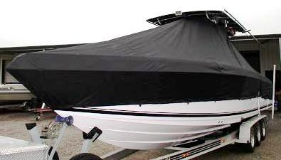 Donzi 32 ZFO, 20xx, TTopCovers™ T-Top boat cover, port front