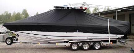 Donzi 32 ZFO, 20xx, TTopCovers™ T-Top boat cover, port side