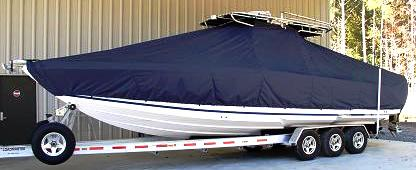 Donzi 35 ZF Open, 20xx, TTopCovers™ T-Top boat cover, port front