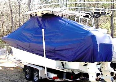 Dusky 233XF, 20xx, TTopCovers™ T-Top boat cover, port rear